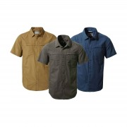Craghoppers Mens Kiwi Trek Short Sleeve Shirt Kangaroo 2XL Parka Gr...