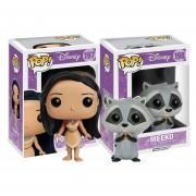 Set 2 Piezas Pocahontas Meeko Disney Funko Pop Pelicula INCLUYE BOLSA POP PARA REGALO