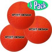 Sport Design 8.5 Inch Playground Balls (Red) Bulk Set Bundle - 3 Pack