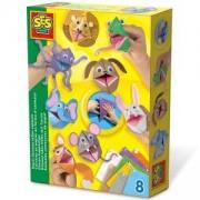 Детски креативен комплект - Хартиени животни SES, 080971