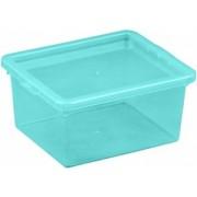 Cutie depozitare cu capac 2 litri albastru deschis