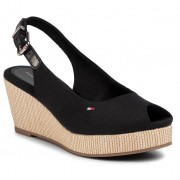 Espadrile TOMMY HILFIGER - Iconic Elba Sling Back Wedge FW0FW04788 Black BDS