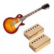 cubierta de pastilla doble de metal 2PCS para el estilo LP -golden la guitarra electrica