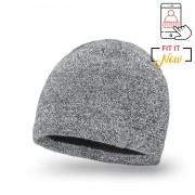 Zimowa czapka męska PaMaMi - Jasnoszara mulina