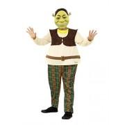Smiffys Shrek Kids Deluxe Costume, Shrek Licensed Fancy Dress, Medium Age 7-9