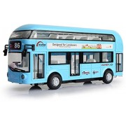 Sajani Classic Double Decker London Bus with Metal Die-Cast Luxury Pull Back Bus with Light & Music Sound.for Kids 3 Years(Multi Color- Color May Vary)