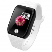 B59 Fitness Tracker Smart Band Watch Bracelet Wristband Blood Pressure Heart Rate Monitoring - White