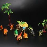 Fancyku 12 Pieces Mini Dinosaur Toys, Plastic Dinos Figures Play Set, Color Random