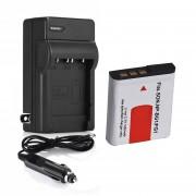 Tipo G Batería 1400mAh + Cargador Para SONY Cybershot DSC NP-BG1 DSC-H10 H20 H50 H55 H70 H9 -Negro