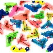 4E's Novelty 25 Pack Small Squirt Water Guns Bulk Assortment, Summer Pool & Beach Party Favor Pack, Outdoor Fun Toys, for Kids Boys & Girls, Birthday Parties Supplies, Assorted Water Gun Pistols