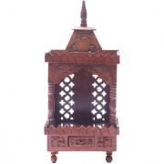 Shilpi Brown Sheesham Wood Exquisite Temple / Mandir / Puja Esstential / Wooden Mandir - (NSHC0048)