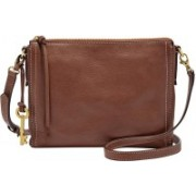 Fossil Women Brown Genuine Leather Sling Bag