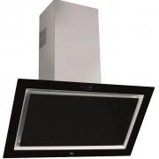 Hota Teka QUADRO DLV 998 BLACK, semineu, 90 cm, vertical, 3 trepte + 1, 2 filtre metalice, negru
