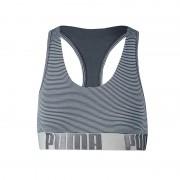 Boxershort Yarn Dyed Striped Bra Blauw