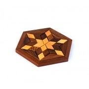 Wigano Wooden Puzzle Games Set - 3D Puzzles Pedagogical Board Brain Teaser