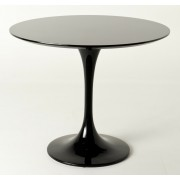 Replica Tulip Table - Black Fiberglass - 90cm