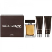 DOLCE & GABBANA SET CADOU THE ONE 100ml Apa de Toaleta + 50ml After Shave Balsam + 50ml Gel de Dus, Barbati 100 ml