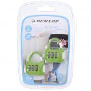 Dunlop 2x Groene reistassen bagagesloten met cijferslot