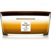 Woodwick Trilogy Café Sweets lumânare parfumată cu fitil din lemn (hearthwick) 453,6 g