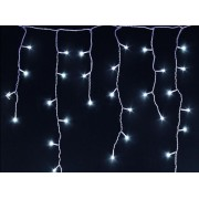 Kültéri fényfüggöny, 8 programos, 200 db hideg fehér LED 4,7 m, KAF 200L