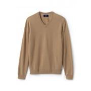 ランズエンド LANDS' END メンズ・ランズエンド・カシミヤ/Vネック/長袖(ビキューナヘザー)