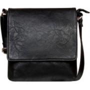Louise Belgium Women Black Leatherette Sling Bag