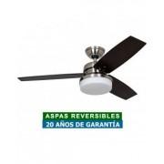 Hunter Ventilador De Techo Con Luz Hunter 50621 Galileo Roble O Nogal / Cromo Cepillado