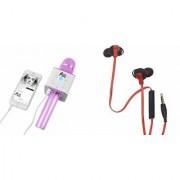 Zemini Q7 Microphone and Earphone Headset for SONY xperia c4 .(Q7 Mic and Karoke with bluetooth speaker | Earphone Headset )