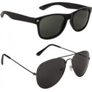 Voyage Aviator Sunglasses(Green, Black)