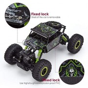 Kajal Toys™ Metal Alloy Body Double Motor 4X4 Remote Control Car 1:16 Scale Rock Crawler Car,X-Large Size, (Dark Green)