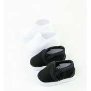"""2 pack of Canvas Slip-On Shoes: Black and White 