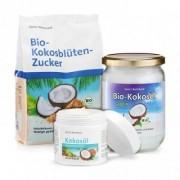 Sanct Bernhard Kit Cocco dolce: Zucchero di cocco + Olio di cocco + Crema per il viso al cocco