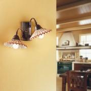 Due P Illuminazione Vania Applique A Parete In Ceramica E Ferro Battuto Rustico Country
