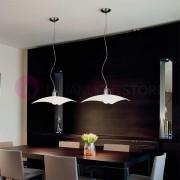 Silvenlight Denim Lampada Sospensione Moderna Vetro Colorato Quadrato L. 46x46