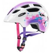 Uvex Finale Led - casco bici - bambino - White/Pink