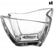 Villeroy & Boch 4 Coupelles NewWave transparentes - 9.8x19.2 cm