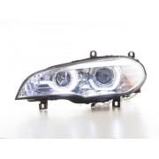 FK-Automotive phares Xenon Daylight LED feu de jour BMW X5 E70 année de costr. 06-10 chrome