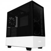 Carcasa NZXT H510 Elite Matte White, Middle Tower, fara sursa, ATX, Black/White