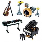SainSmart Jr. 4 Pack Diamond Nano Blocks Musical Instrument Electronic Organ Violin Piano Jazz Drum DIY Micro Bricks Educational Toys