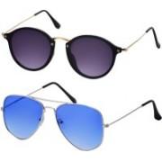 Freny Exim Aviator Sunglasses(Violet, Blue)