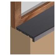 GIS253 - Glaf pentru interior din PVC infoliat 250 mm