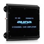 Auna amplificador para Auto W2-AC200 2 canais LED. 2000W