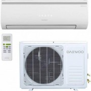 Aer conditionat Daewoo DSB-F0985ELH-VK, 9000 Btu, A++, inverter, kit de instalare, alb