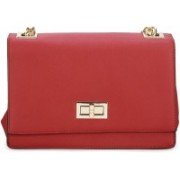 Call It Spring Women Casual Red Genuine Leather Sling Bag