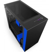 Kućište NZXT H400i Matte Window Black/Blue, CA-H400W-BL
