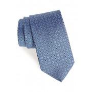Eton Geometric Silk Tie BLUE