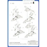 Trumpeter 1/700 F14B/D Tomcat Aircraft Set for USS Nimitz (12-Box)