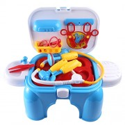 Inditake Kids Doctor Play Kit Pretend Play with Retractable Storage Chair Educational Toys