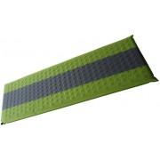 Šedo-zelená samonafukovací karimatka - délka 195 cm, šířka 60 cm a výška 7 cm