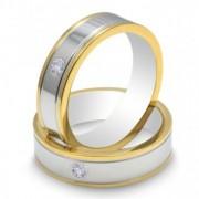 Inel magnetic cu zirconiu placat cu aur cod VOX 41